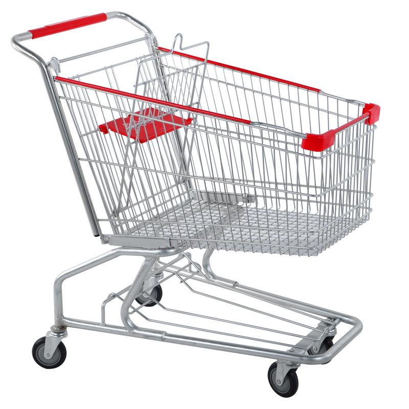 China 2017 60 210l Supermarket Shopping Cart Handle Wheels Baby Seat China Supermarket Shopping Food Cart Grocery Shopping Carts