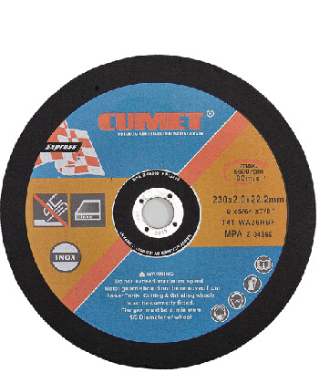 Flat Cutting Disc for Inox (230X2X22.2) Abrasive with MPa Certificates