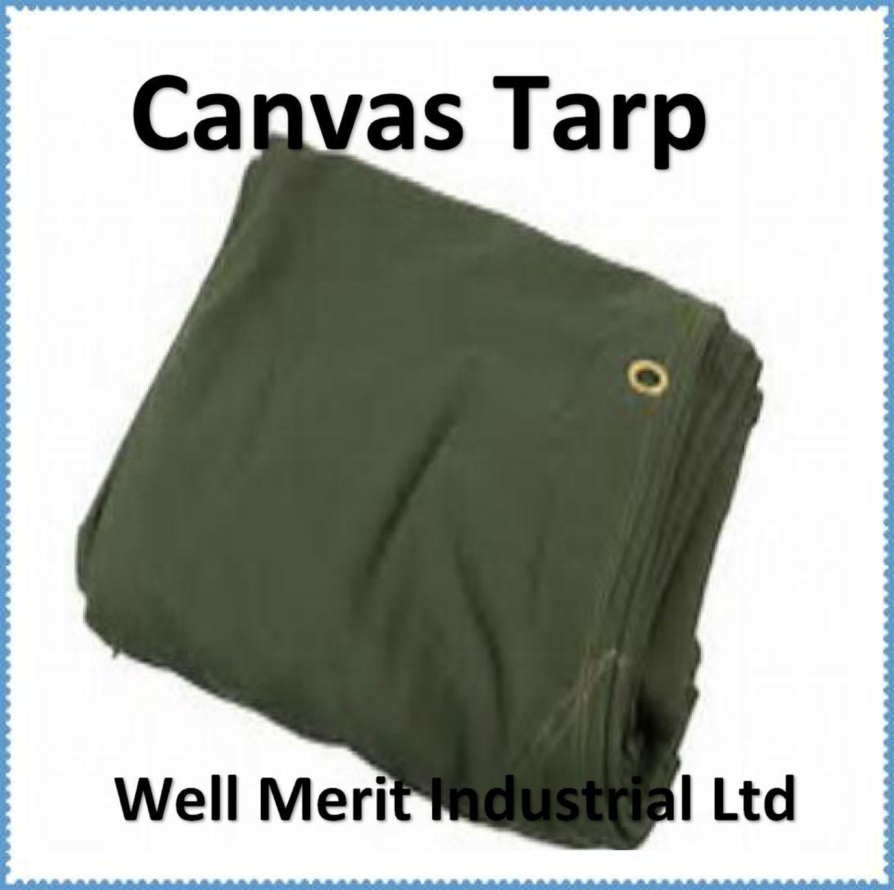 Water Resistant 10/' x 12/' Canvas Tarp 16 oz Heavy Duty