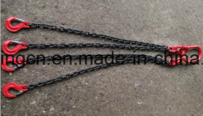 China 8mm 4 Leg Lifting Chain Sling with 2 3m 4 2 Ton Clevis