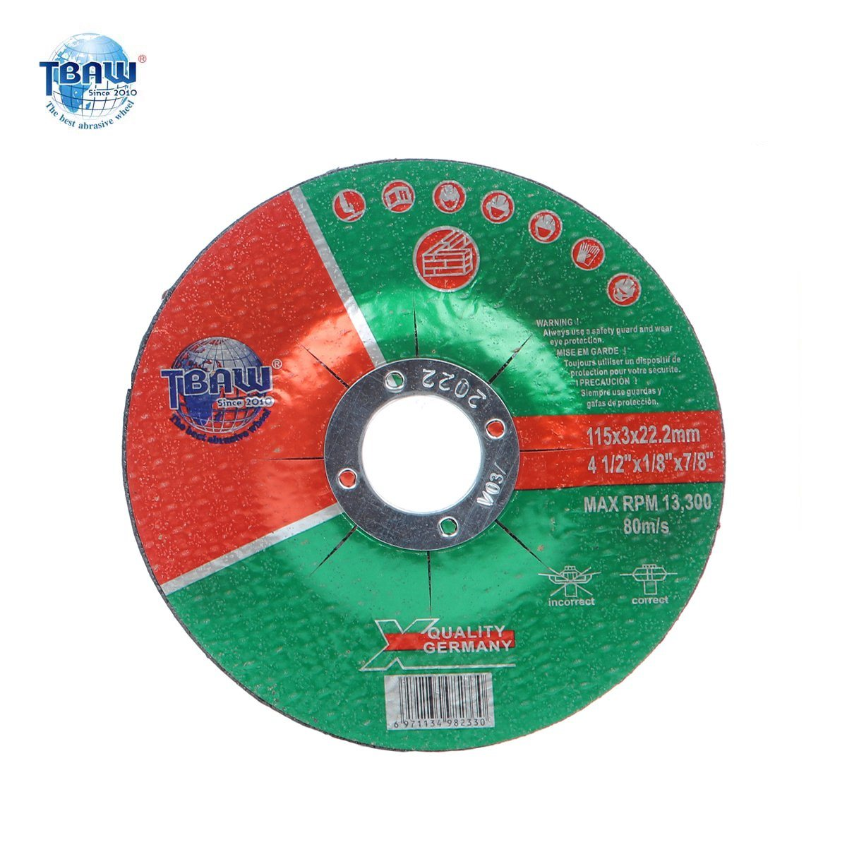 "50 PACK Steel Cut-off wheel 4-1//2/"" x 1//8/"" x 7//8/"" - T42 - Depressed Center"