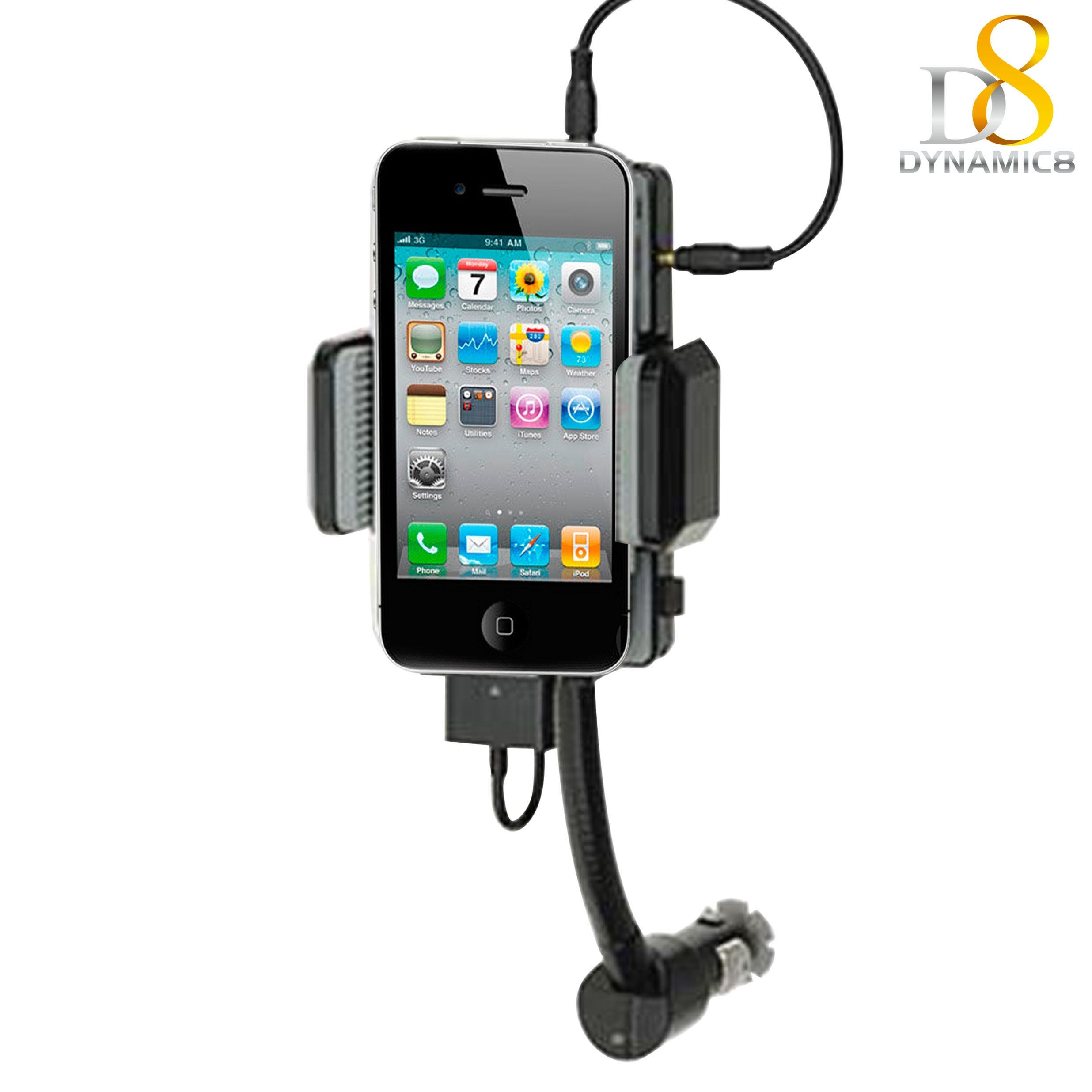 China Handsfree Fm Transmitter Kit For Iphone4 Dynamic8 868a Mobile Phones Car Tranmitter