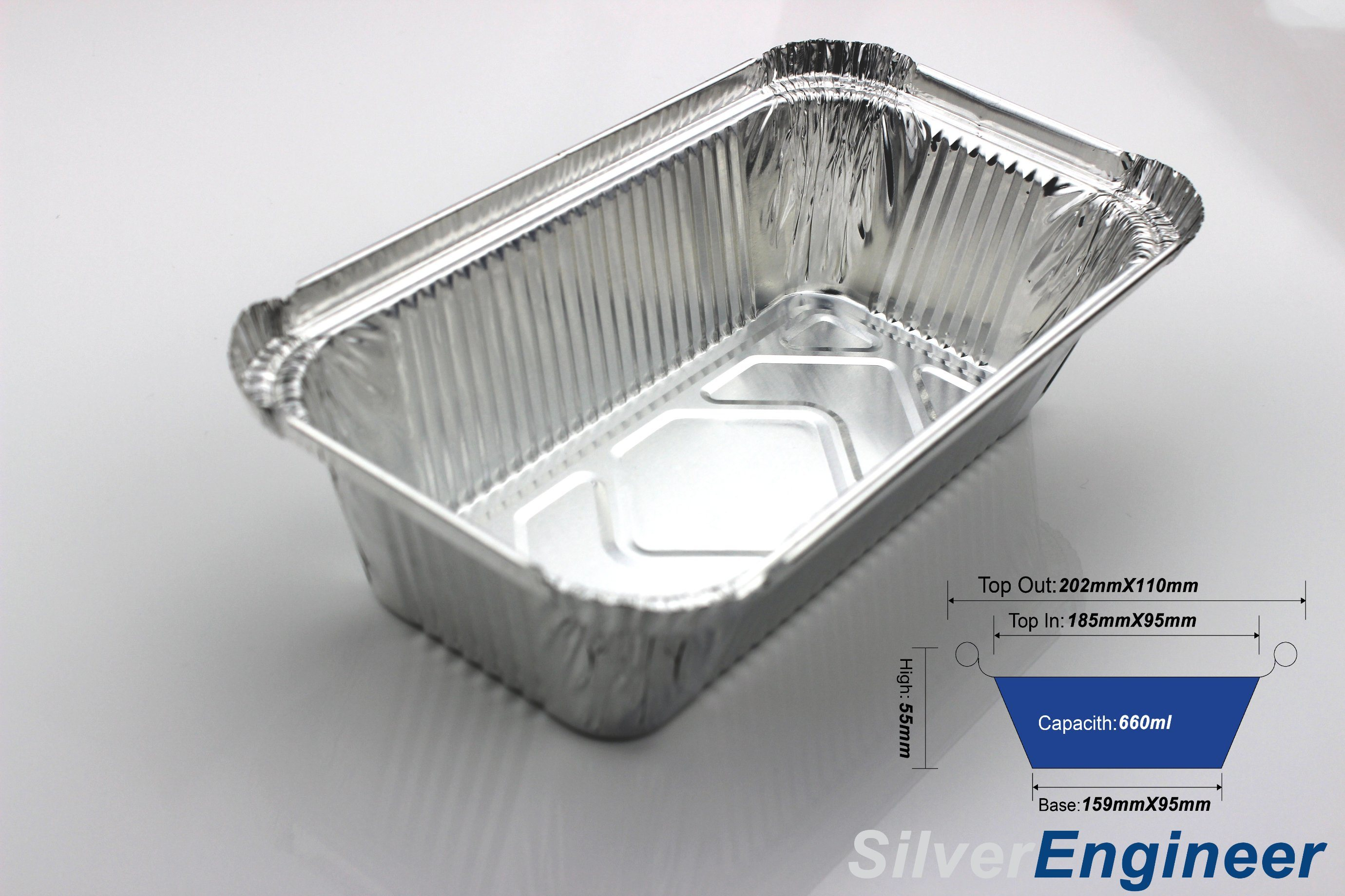 [Hot Item] Popular in India Factory Hot Sale Disposable Aluminum Foil Food  Container From Godfoil