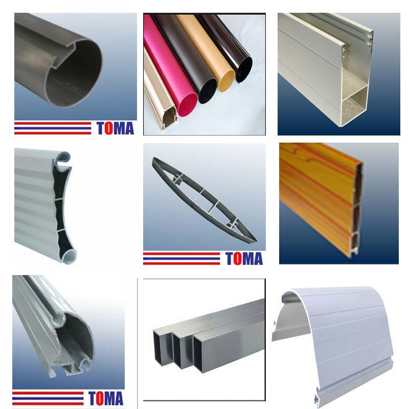 High Quality Aluminium Profiles for Roller Shutters, Aluminium Windows and Doors, Curtain Wall, Awnings, Blinds, Solar Systems, Handrails