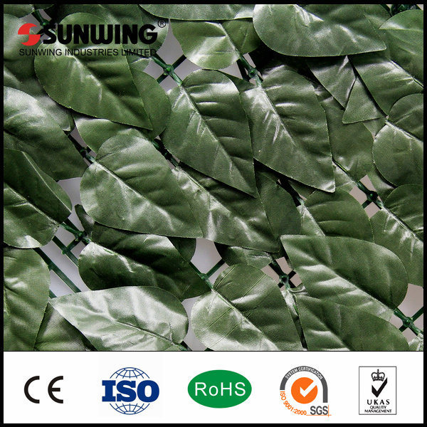 China Outdoor Decorative Artificial Bamboo Leaves Plants Fence