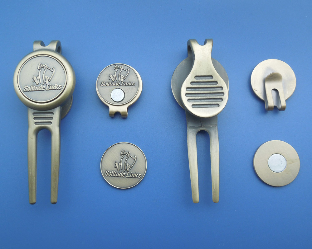 Golf Hat Clip Ball Marker and Divot Repair Tool