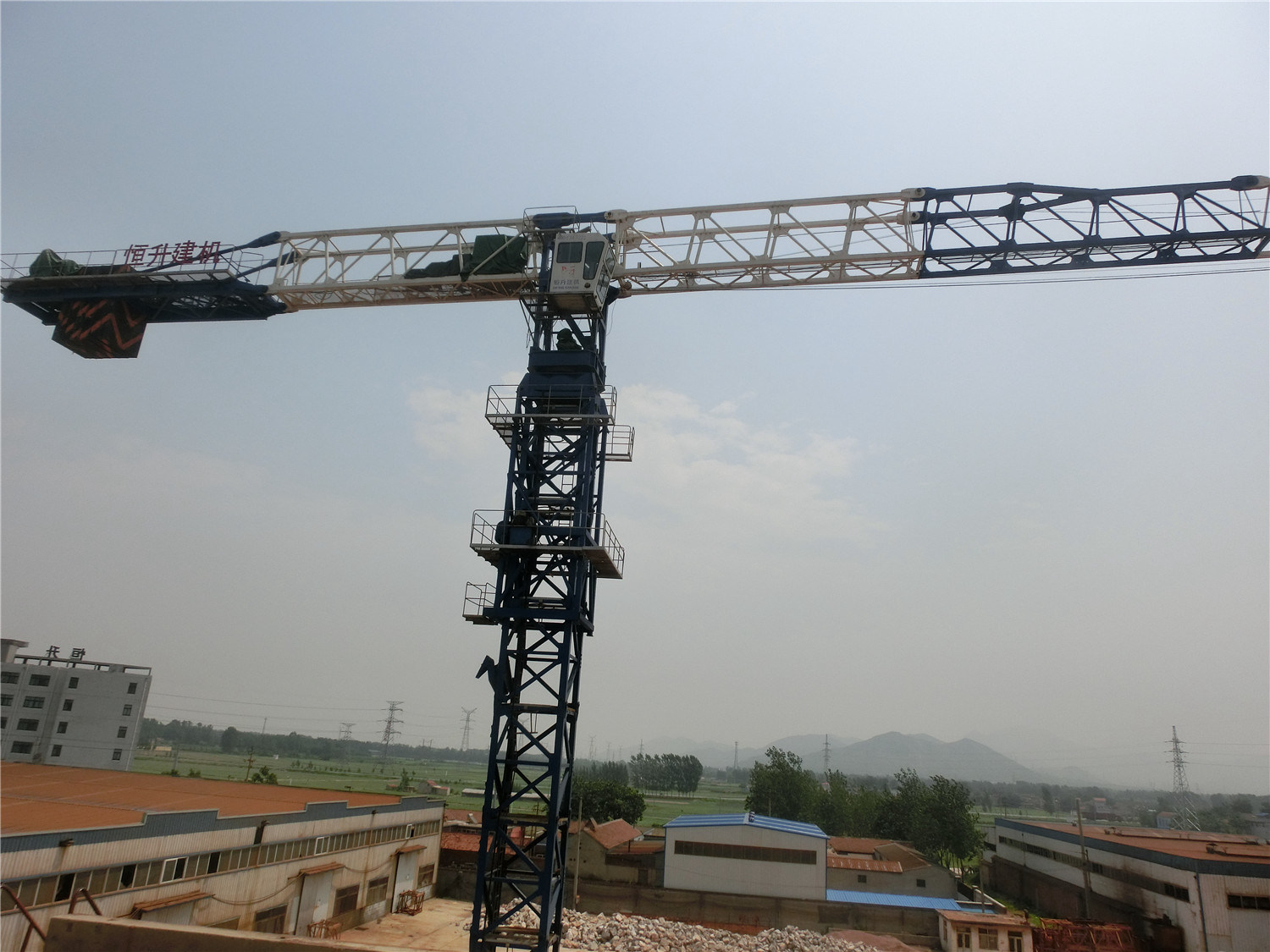 Hydraulic Flattop Tower Crane Factory Offered with Ce SGS