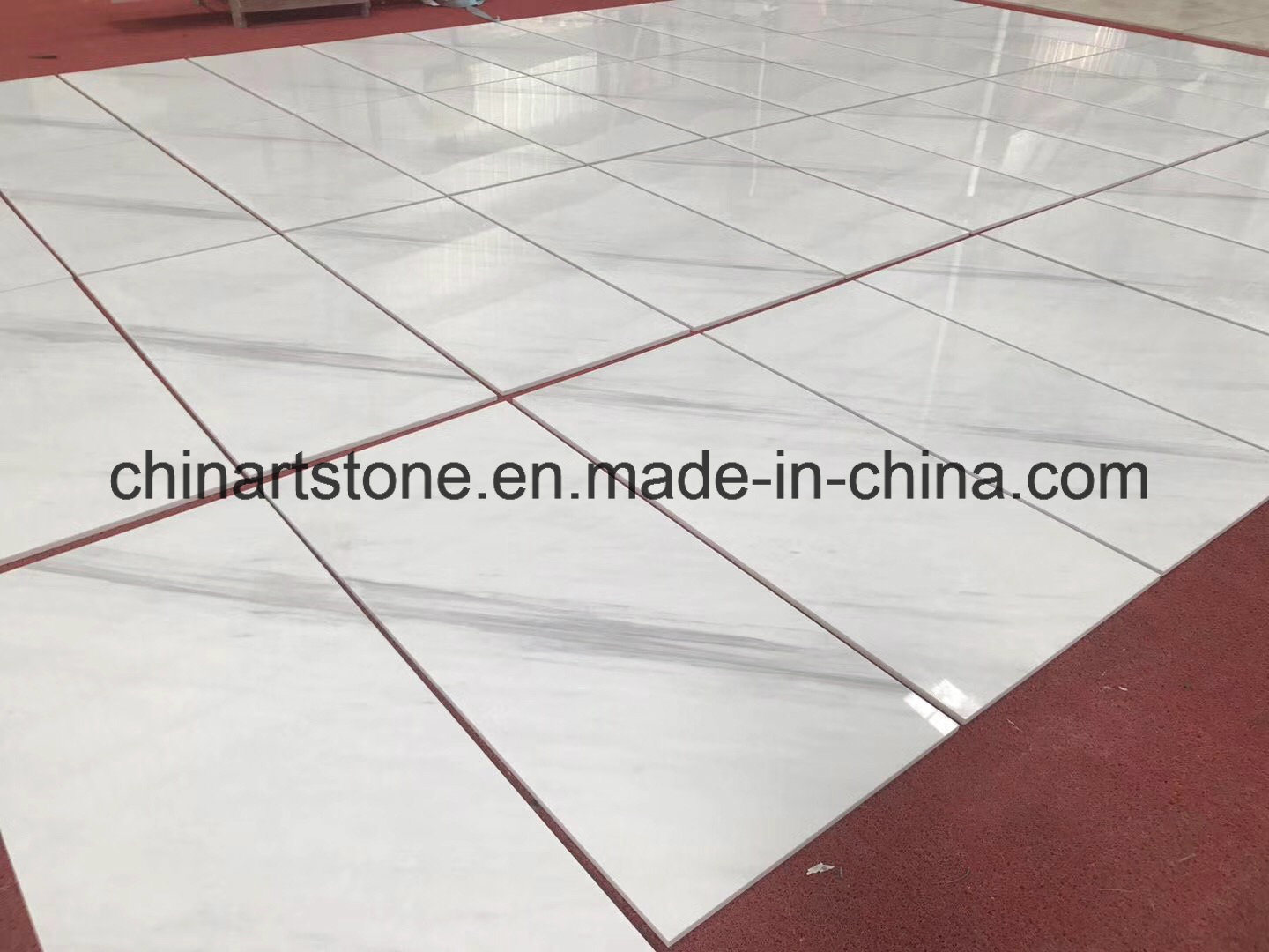 China Top Quality Ariston White Marble Tile for Your Villa pictures & photos