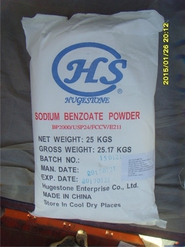 Food Additive Sodium Benzoate (NaC6H5CO2) (CAS: 532-32-1)
