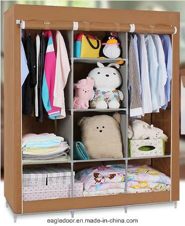 Single Fabric Canvas Clothes Storage Organiser Home Wardrobe Cupboard  Shelves (FW 04)