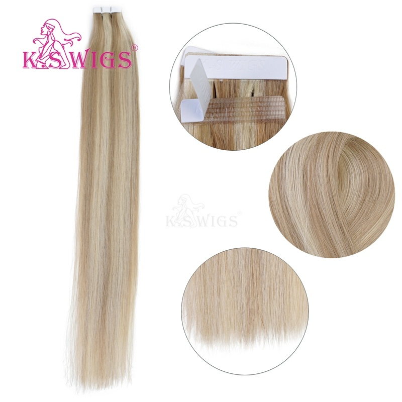 K. S Wigs High Quality Tape Hair Extensions Remy Indian Human Hair pictures & photos
