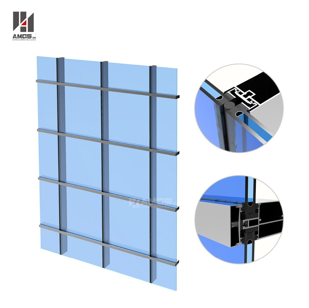 China Exterior Facade Aluminum Frameless Glass Curtain