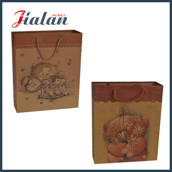 Custom Wholesales Shopping Gift Packing Logo Printed Kraft Paper Bag pictures & photos