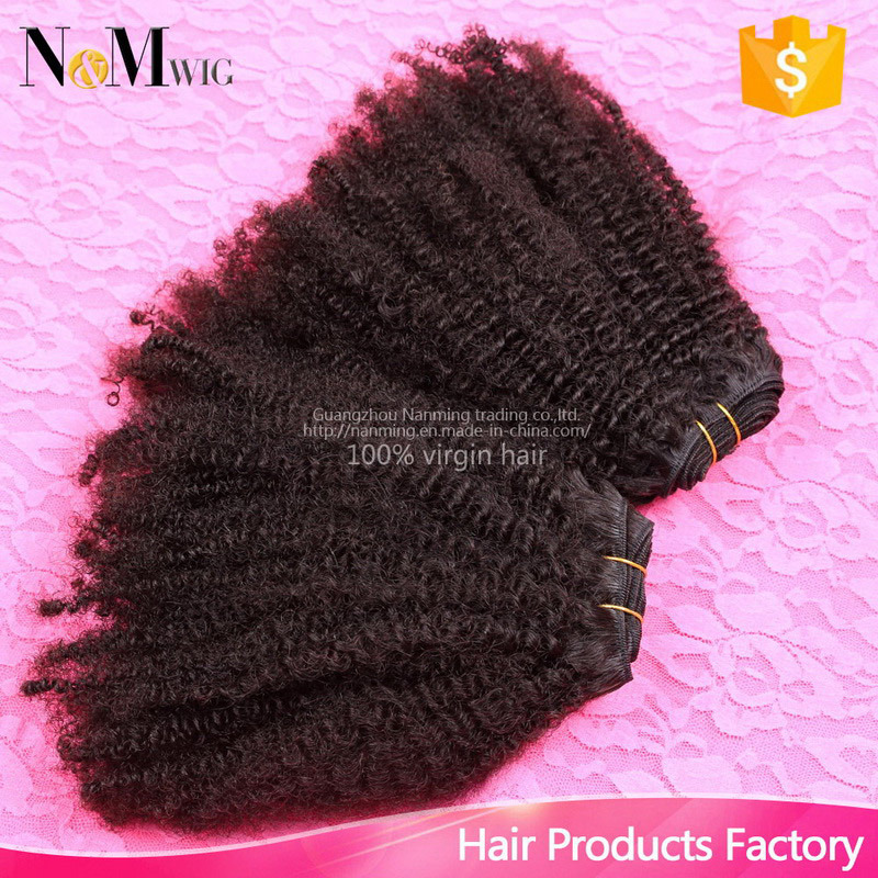 100% Virgin Human Hair Extension Natural Curl Coily Brazilian Remy Natural Hair