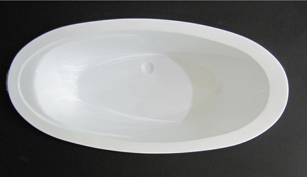 China Acrylic Big Oval Simple Bath Drop in Tub - China Dropin ...