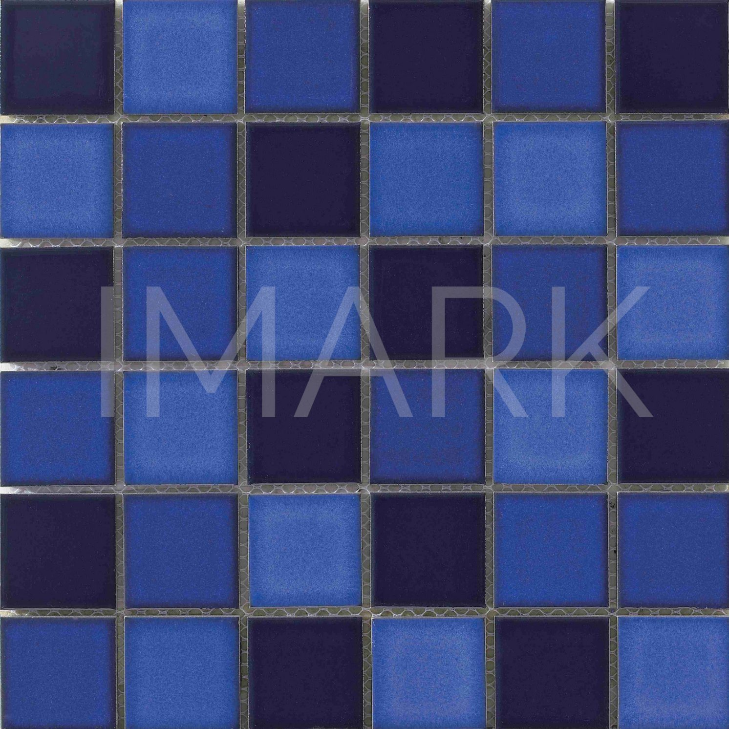- China Blue Color Blend Ceramic Discontinued Swimming Pool Tile