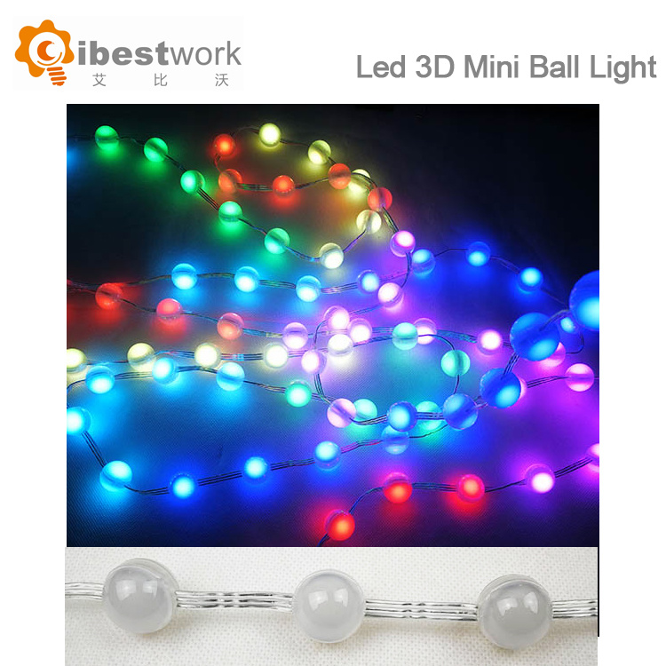 Diffused Digital RGB LED Pixel Light Individually Addressable Round LED  Pixels Module