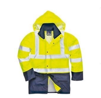 Flu Yellow Hi Vis Safety Jacket Meet En/ANSI