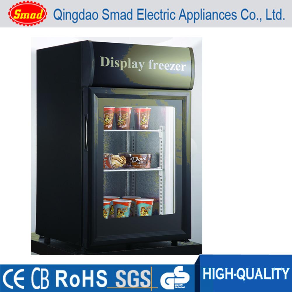 Ft Glass Door Countertop Ice Cream Freezer Merchandiser China