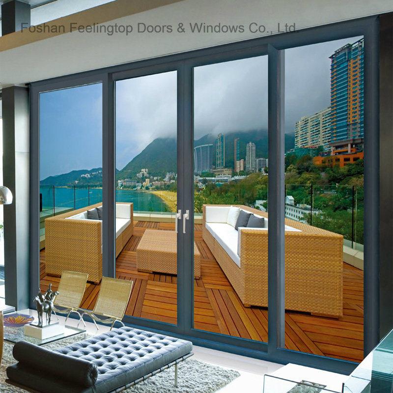 China Heat Insulation Aluminum Frame Sliding Door for Villa & House ...