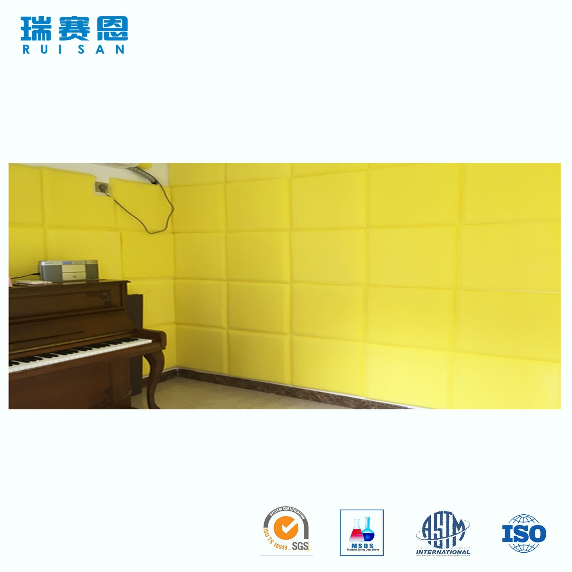 China Polyester Fiber Sound Control Acoustic Panel for Recording ...