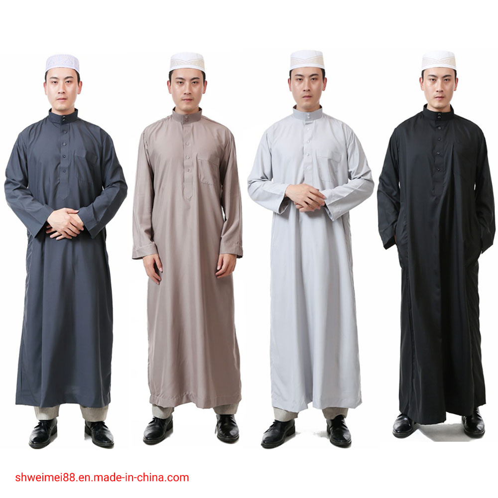 China Men Long Sleeve Islamic Muslim Middle East Maxi Robes