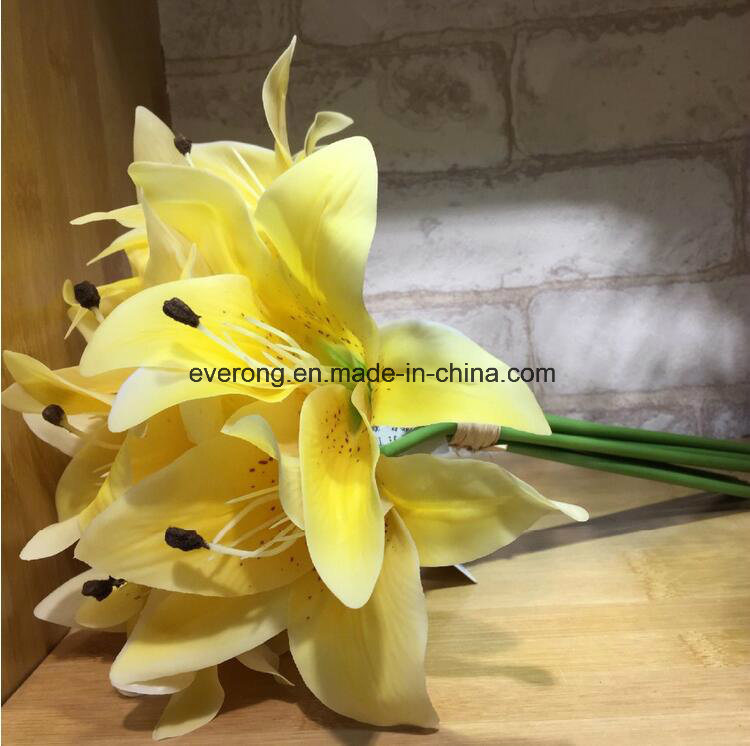 Fake flowers whole canada flowers healthy latex lily of the valley whole real touch wedding bouquets canada lily artificial flowers latex artificial mightylinksfo