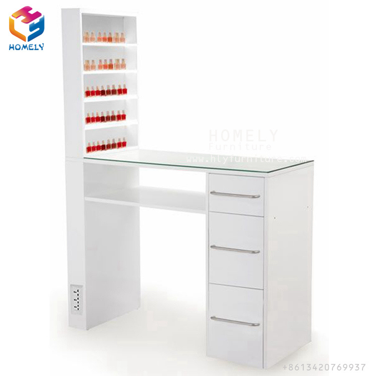 China Levao Technician Nail Desk Manicure Tables Nail Salon ...