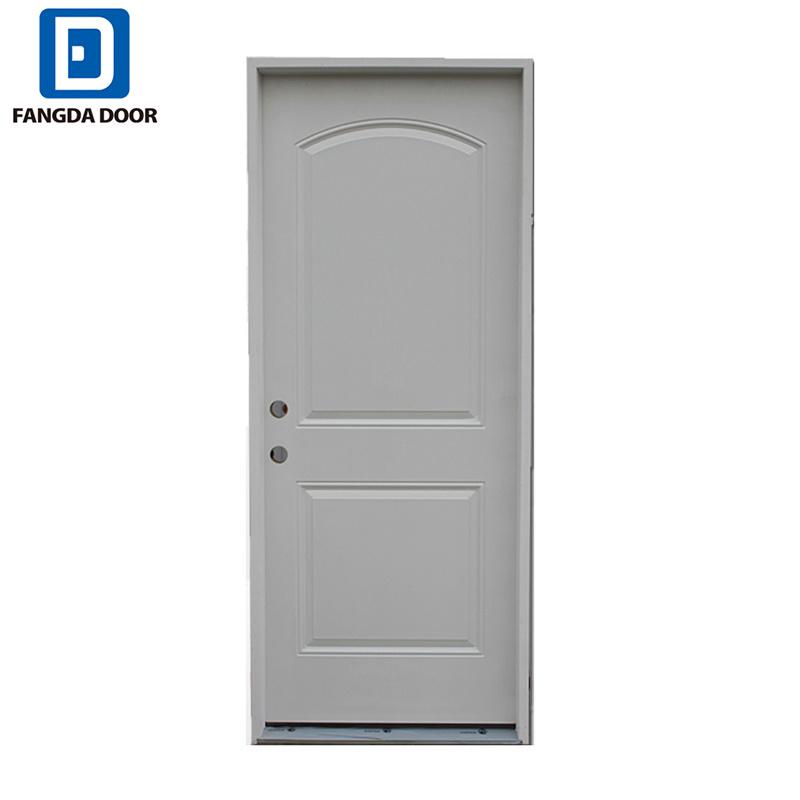 [Hot Item] Wooden Look Premium 4 Panel Designs Steel Entry Front Prehung  Exterior Door Slab