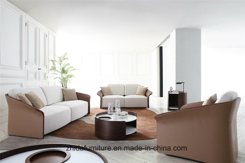 [Hot Item] Europe Italian Living Room Genuine Leather Modern Sofa