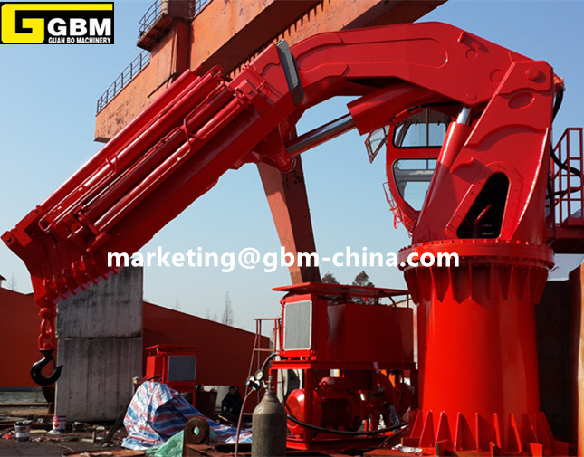 Hydraulic Telescopic Folding Boom Crane pictures & photos