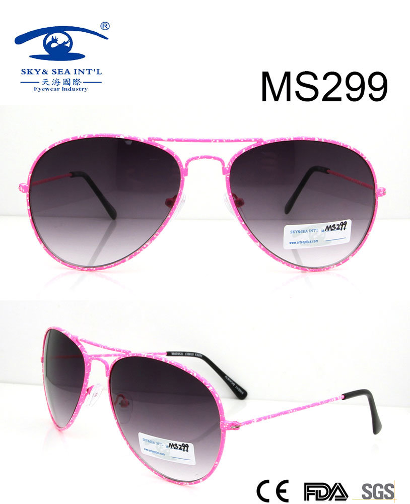 Hot Sale Woman Style Metal Sunglasses (MS299)