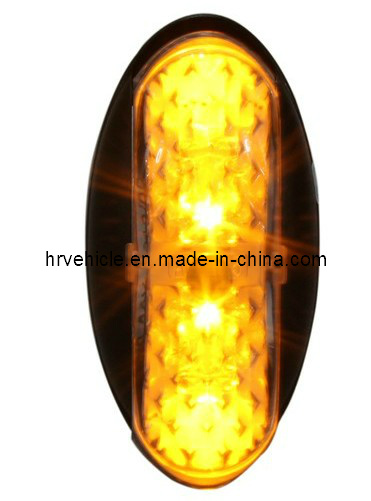 10 Pack of 2.5 Amber LED Beehive Marker Lights Trailers and Trucks