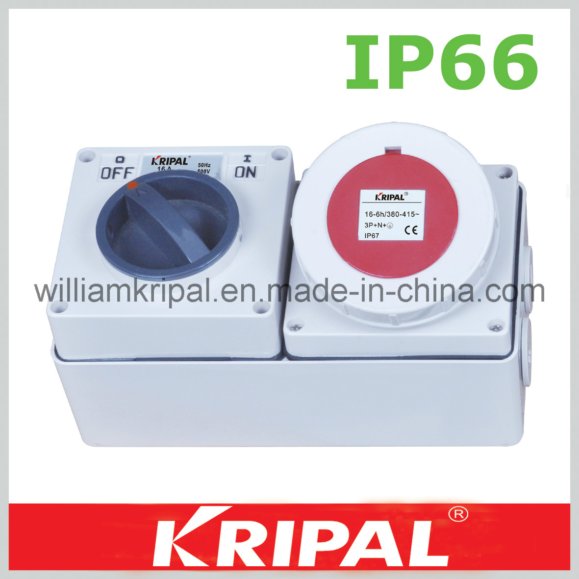 China 5pin 16a Cee Weatherproof Switch Socket
