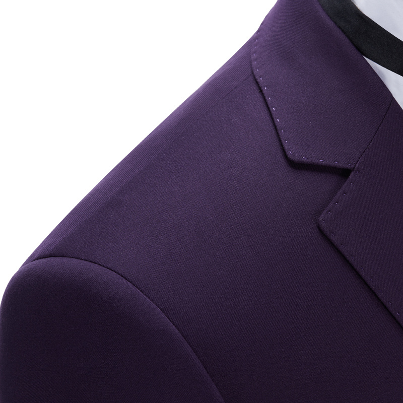 New Arrival Fashion Business Wedding Slim Fit Man Purple Suit
