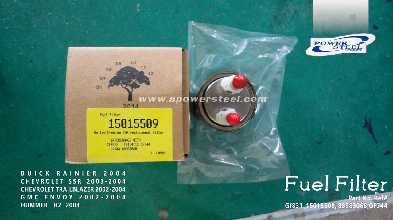 China Gf831 15015509 88983068 Gf344 Fuel Filter Powersteel Gmc Buick Rainier 2004chevrolet Ssr 2003 Trailblazer 2002 2004gmc Envoy 2004