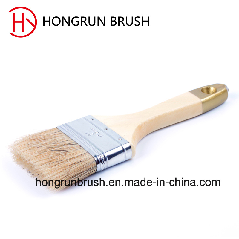 Wooden Handle Bristle Paint Brush (HYW032)
