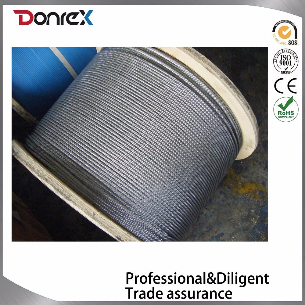 China Reel Packaged Galvanized Steel Wire Rope for Lifting - China ...