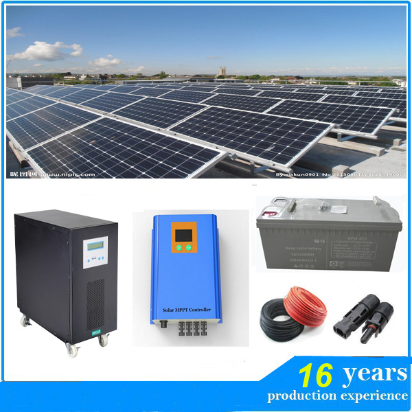 China high efficiency 5kw 96v solar panel system solar for Energy efficiency kits