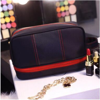 d50900e755 Multi-Function Water-Proof Portable Two-Layer Women Cosmetic Bag Men Travel  Wash Bag