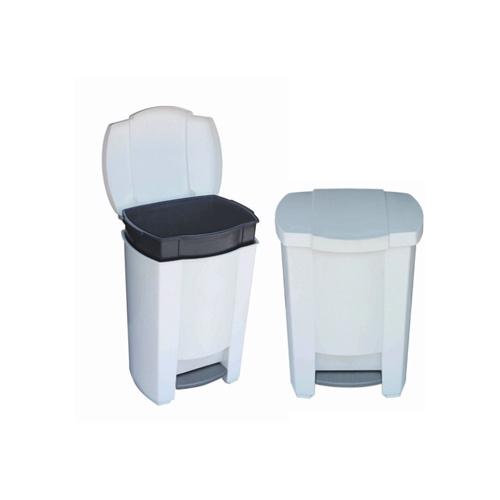 gal white simplehumanr cans plastic trash top swing bathroom black can lid