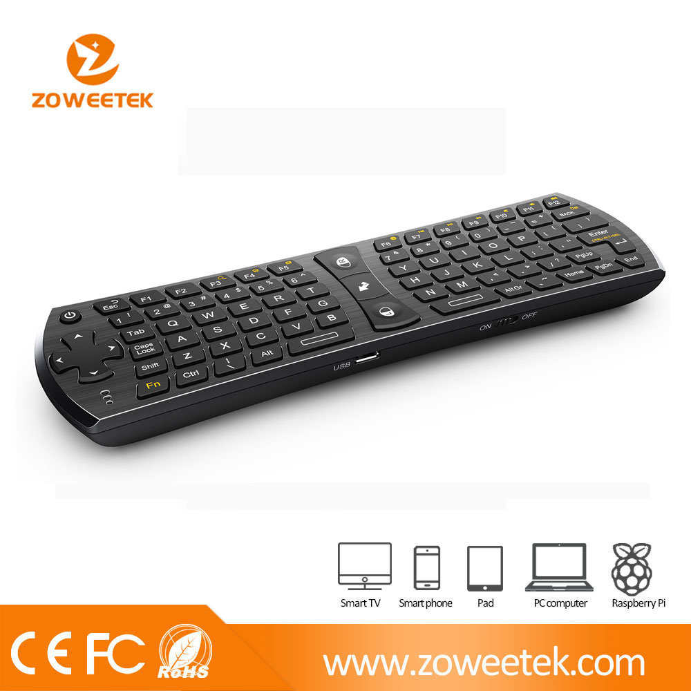 China 24g Wireless Keyboard Computer Laptop Air Mouse Gyroscope For Smart Tv Pc Android Box Zw 51024 Fly Mini