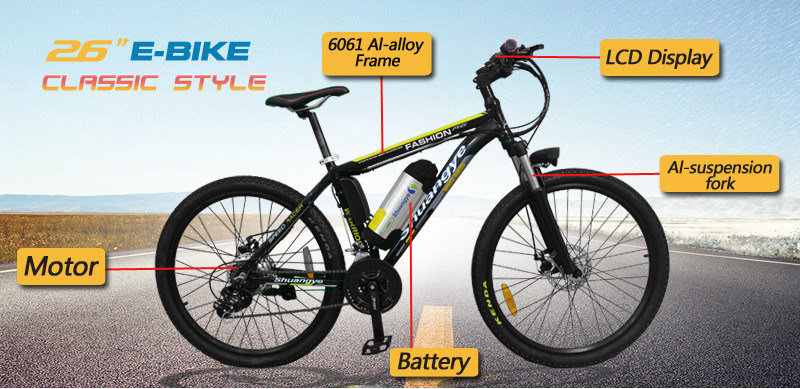 26′′ 36V Lithium Battery Mountain Electric Bike pictures & photos