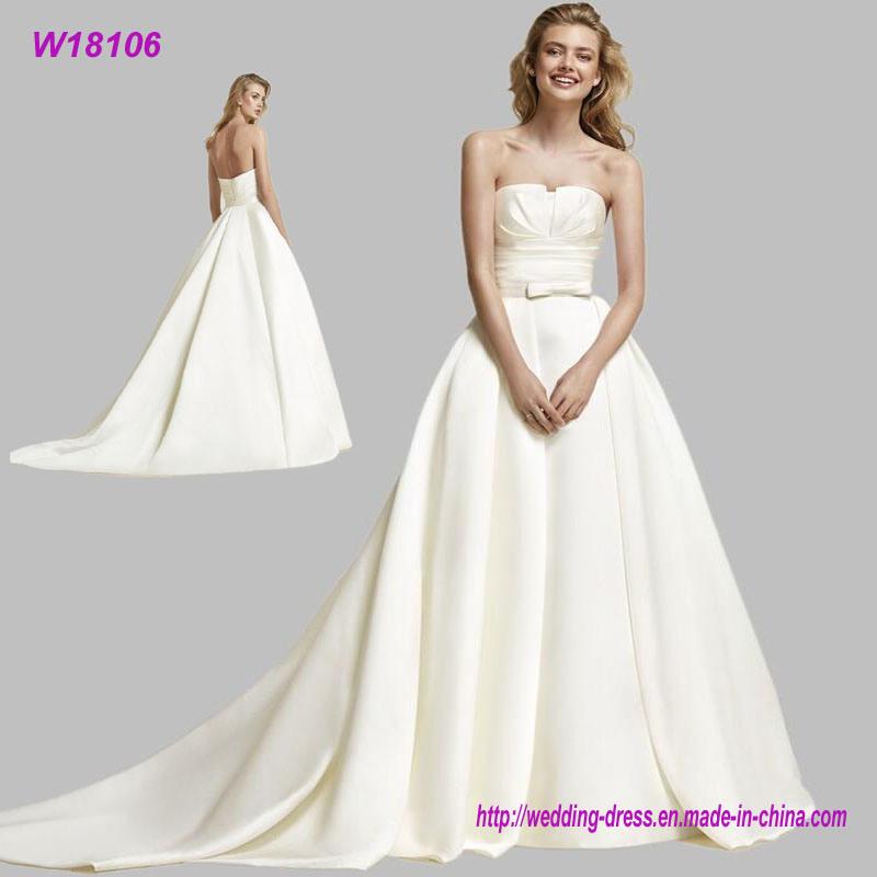 China Wholesale Elegant Simple White Ball Gown Wedding Dresses ...