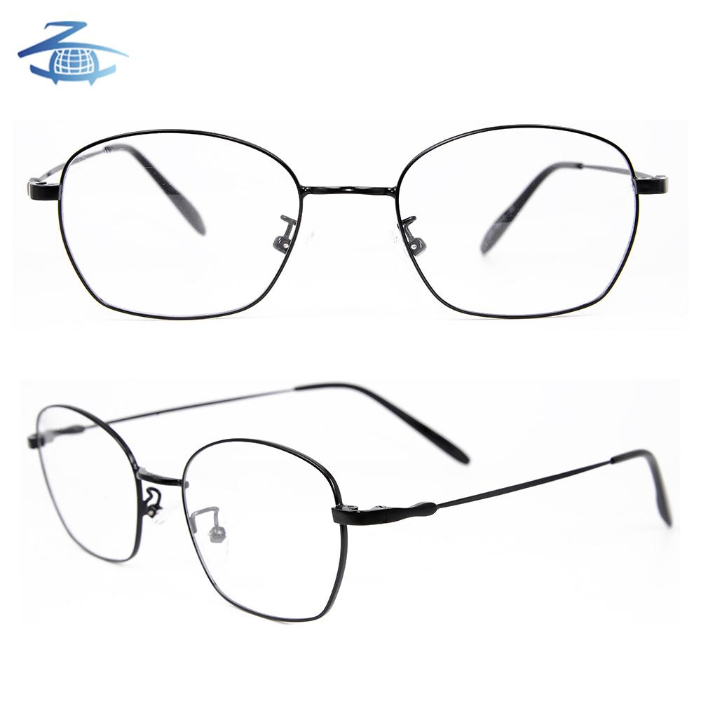 a8f6f1987c8 China Guangzhou Wholesale Classic Retro Metal Oval Shape Unisex Black  Optical Frame Eyewear - China Eyewear