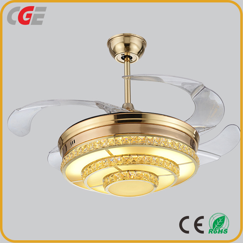 China Led Ceiling Fan With Light Fan Industrial Ceiling Fan Decorative Ceiling Fan Led Lamps Hidden Blades Crystal Fan Chandelier Light Photos Pictures Made In China Com