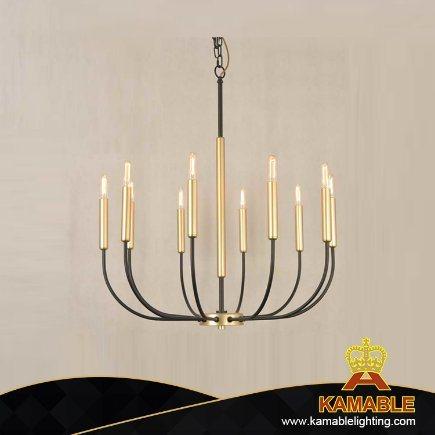 Modern Metal Chandelier Pendant Lighting Industrial Vintage Iron Hanging Lamp