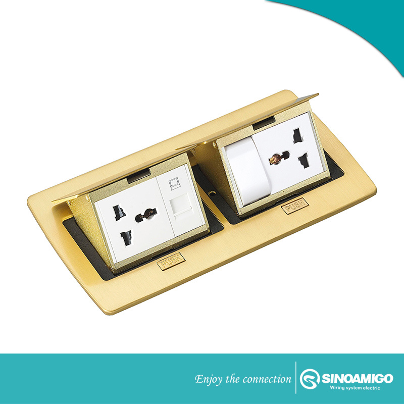 Terrific China Brass Double Floor Boxes Outlet With Multi Sockets China Wiring Digital Resources Bletukbiperorg