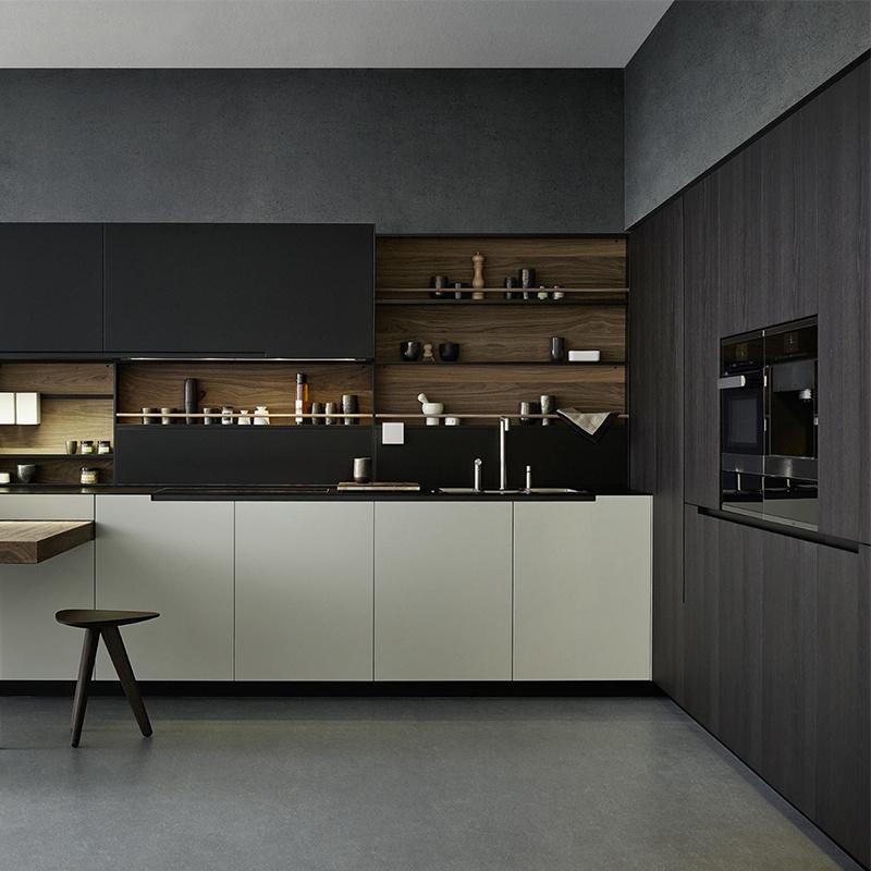 Hot Item Affordable Modern Mdf Hdf Kitchen Designs Free Standing Pantry Black Kitchen Cabinets