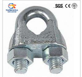 50 pcs galvanised steel wire rope clip DIN 741 6mm